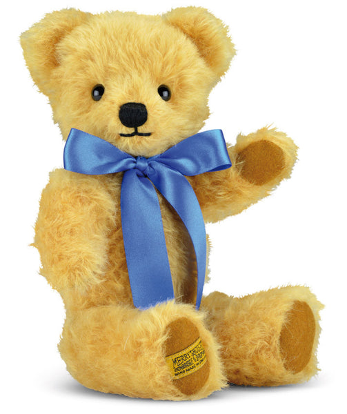 "Merrythought London Curly Gold 10"" handmade traditional teddy bear *Free Offical Gift Box*"