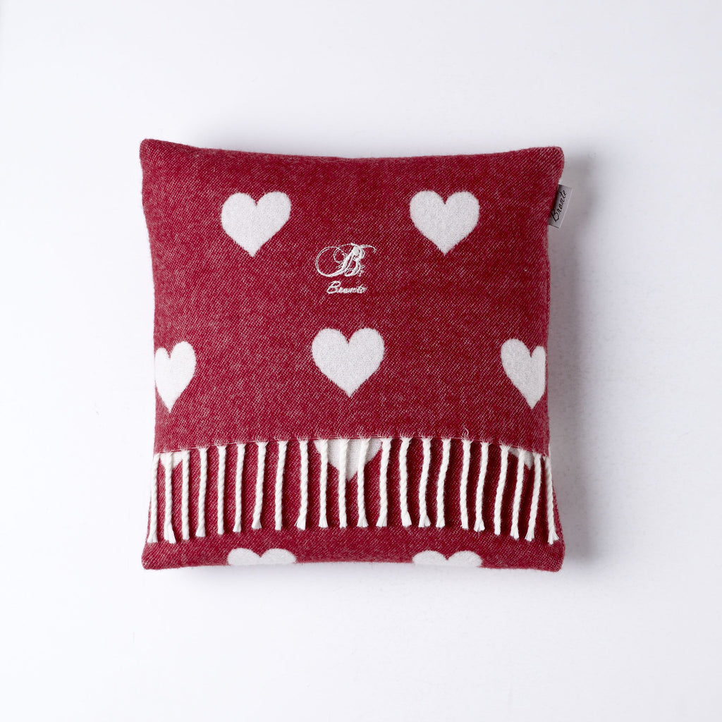 Bronte Baby - Red Heart - Cushion