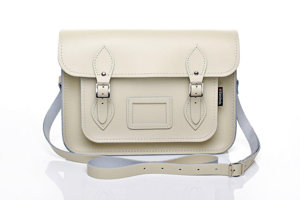 Cream Satchel with Mag dots