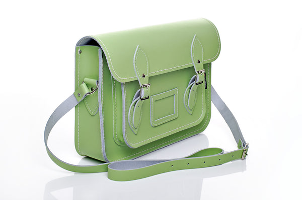 Grass Green Satchel with Mag Dots