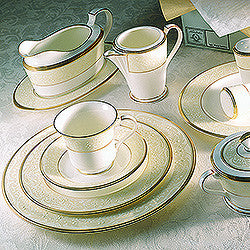 White Palace 41pc. Dinner Set w/Casserole
