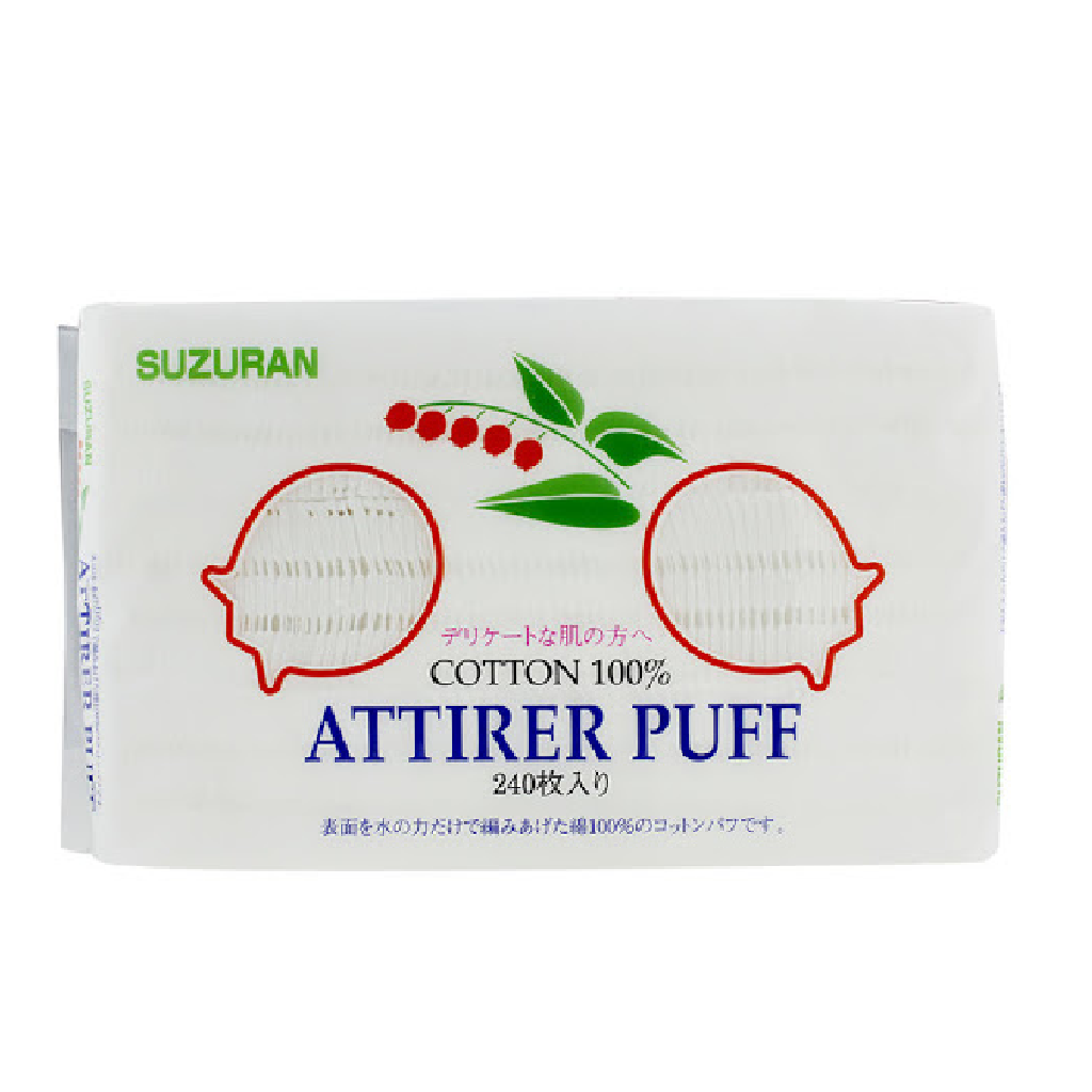 Suzuran 100% Pure Cotton Attirer Puff 240 Sheets