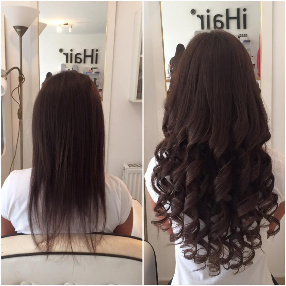 The process of heat-fitting hair extension
