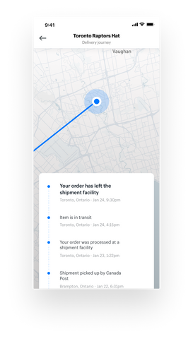 Arrive app Tracking