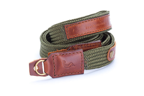 The street (Seaweed Green) handmade Camera strap neck handmade for mirrorless camera