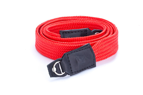 The street (Red) handmade Camera strap neck handmade for mirrorless camera