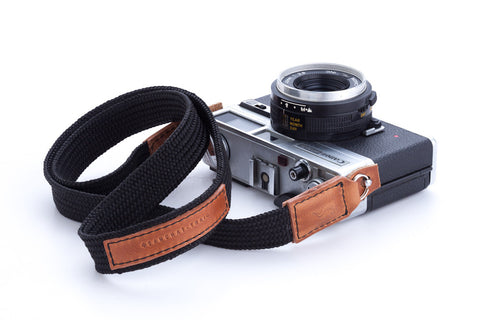 handmade camera strap black for DSLR SLR Mirrorless canon nikon fuji sony