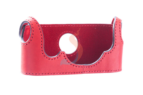 Camera case Leica M4 (Red-Italian Leather)