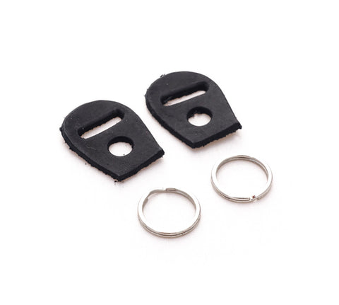 Hook strap ring leather protect. (Black)