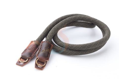 Handmade camera neck strap made by climbing rope. SANCHATTHAI military concept