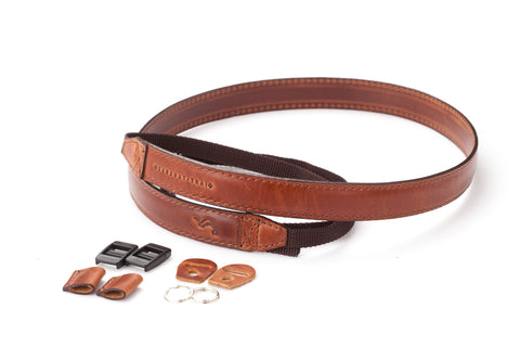 THE CLASSIC : Leather camera strap handmade