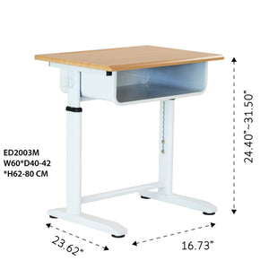 Small Adjustable Desk and Chair Set
