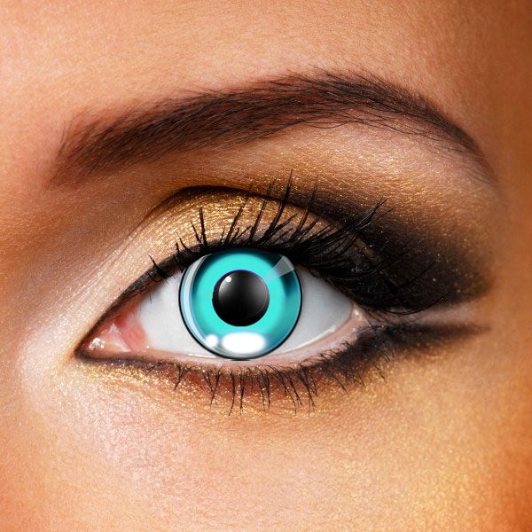 Anime Costume Tiffany Blue Contact Lenses (New)