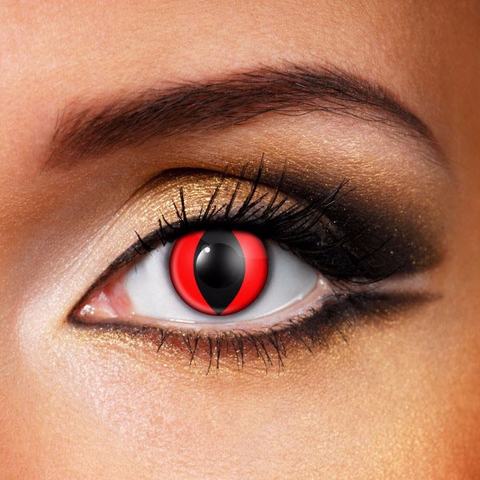 Red Cat Eye Costume Contacts
