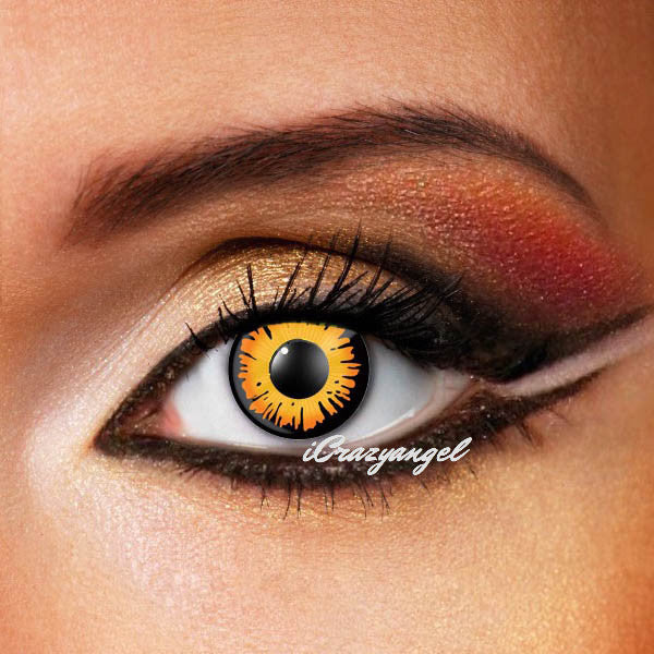 Orange Werewolf Eyes Costume Contacts