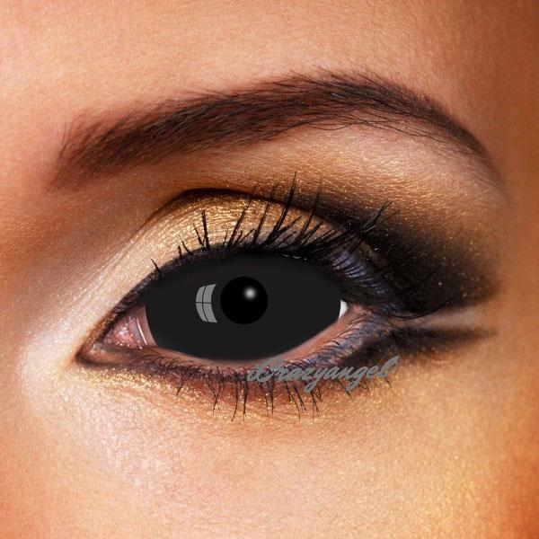 Black Sclera Contacts 22mm Lenses
