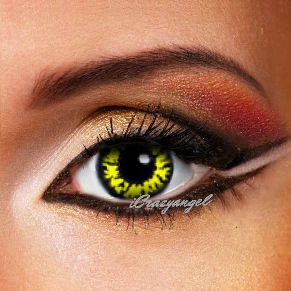 Black Wolf Eyes Contact Lenses
