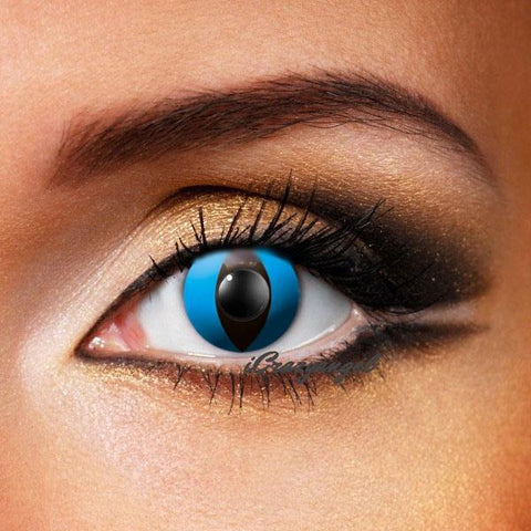 Deep Blue Cat Eye Crazy Lenses