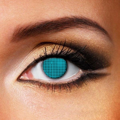 Blue Mesh Crazy Contacts (New)