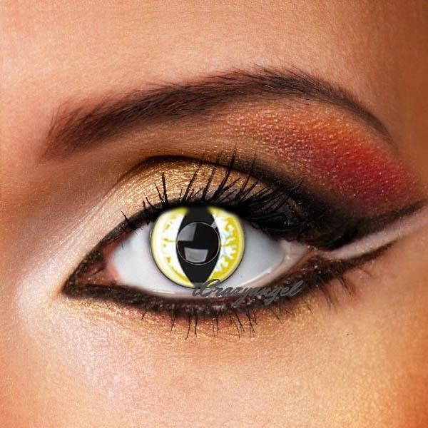 Yellow Snake Costume Contact Lenses