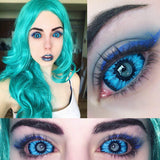 Tiffany Blue Monster Sclera Contacts (New)