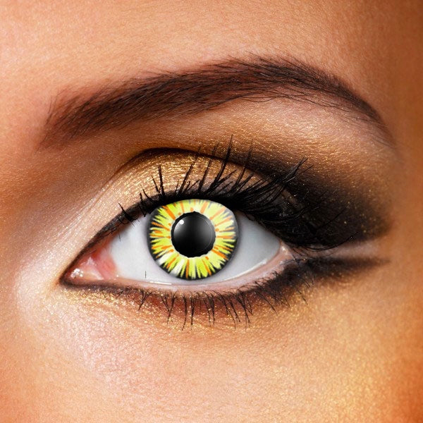 Fire Flame Golden Contact Lenses