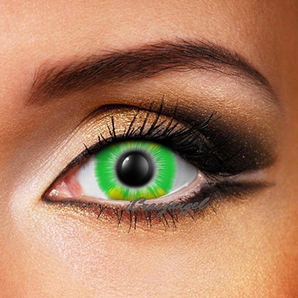 Fire Flame Green Contact Lenses