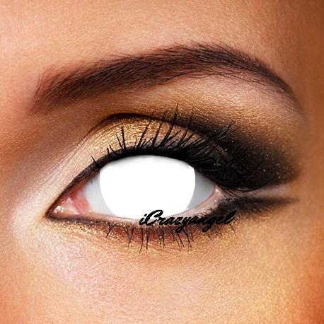Mini Sclera White Blind 17mm Contact Lenses