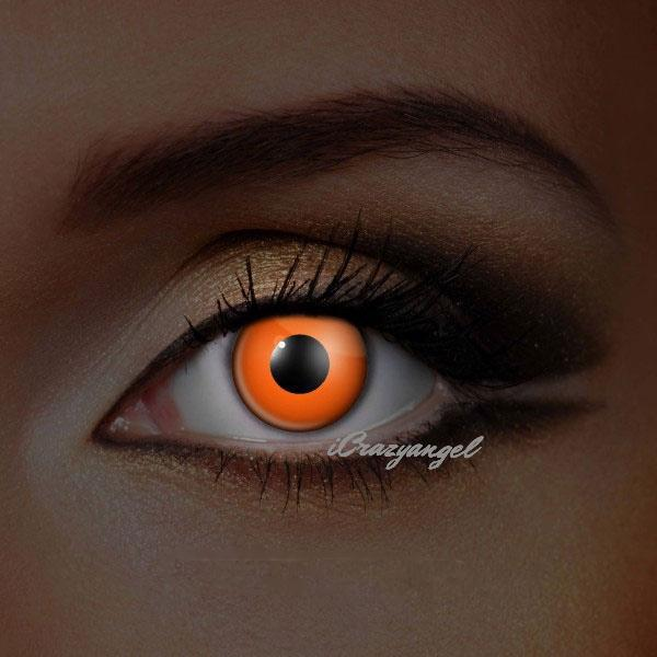 UV Orange Costume Contacts