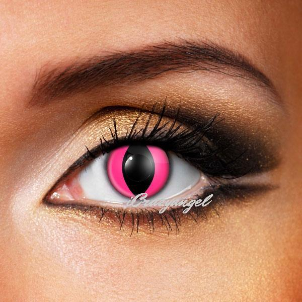 Pink Cat Eye Contact Lenses