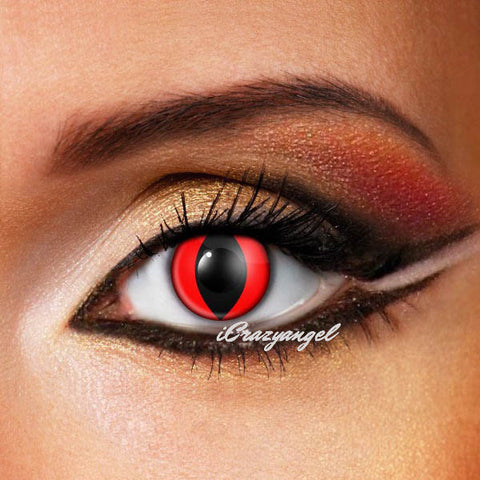 Cat Eye Bloody Red Crazy Contact Lenses