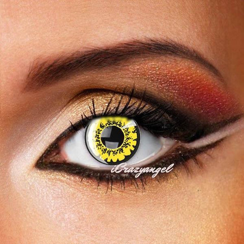 Yellow Poppy Crazy Contact Lenses