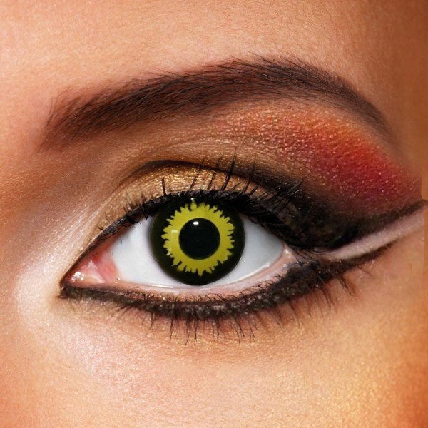 Yellow Explosion Contact Lenses