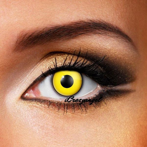 Mad Hatter Yellow Contact Lenses