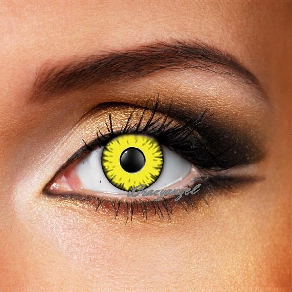 Yellow Monster Crazy Contacts Icrazyangel