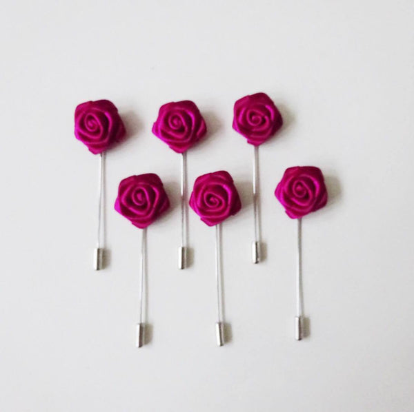 Lapel Pin - Dark Pink Small (6s) Online Exclusive Discount (6-8 weeks lead-time)
