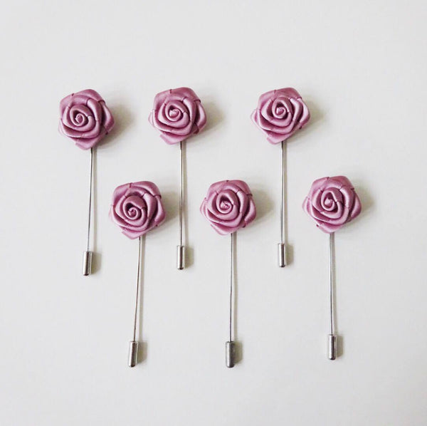Lapel Pin - Rose Pink Small (6s) Online Exclusive Discount (6-8 weeks lead-time)