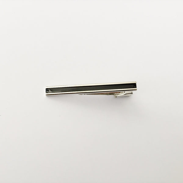 Tie Bar - Black and Silver (Medium)