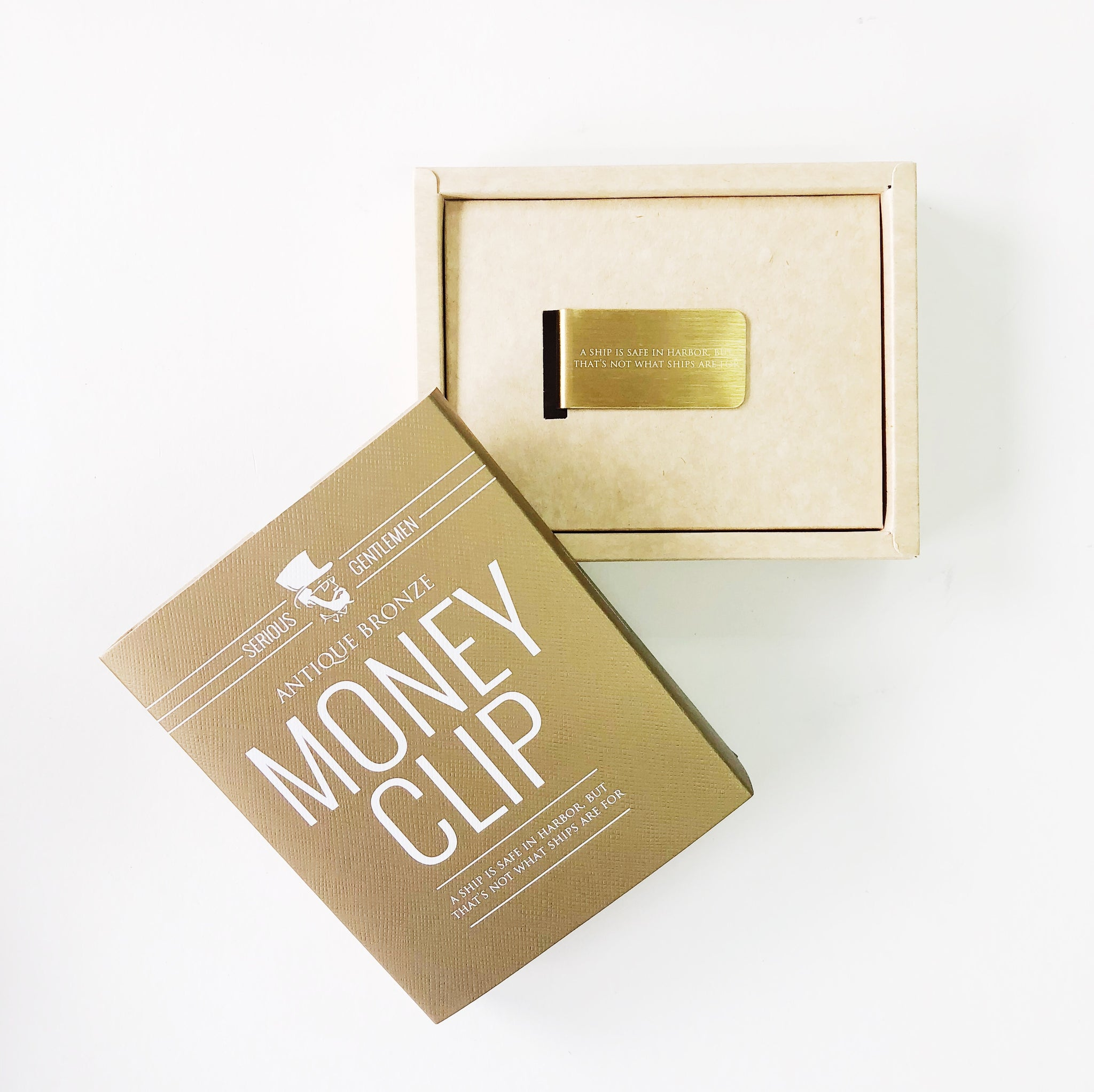 Money Clip - A ship is safe in harbor, but that is not what ships are for