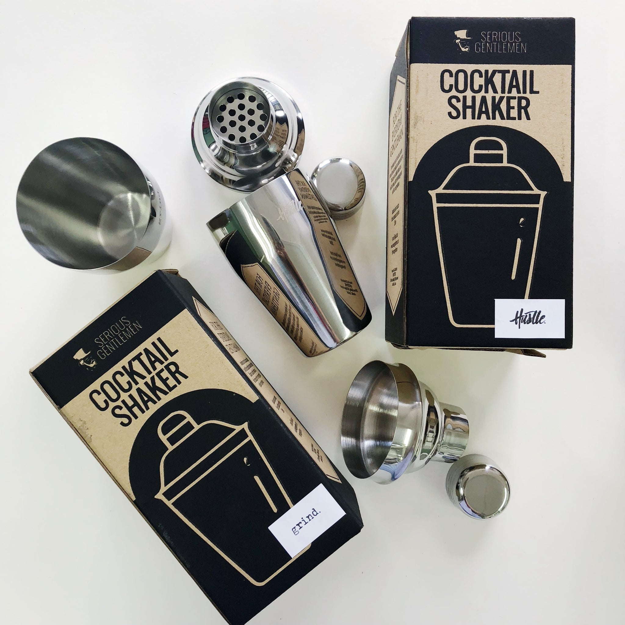 Stainless Steel Boston Shaker - Grind