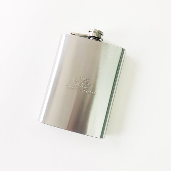 8 oz Flask - Start Unknown, Finish Unforgettable