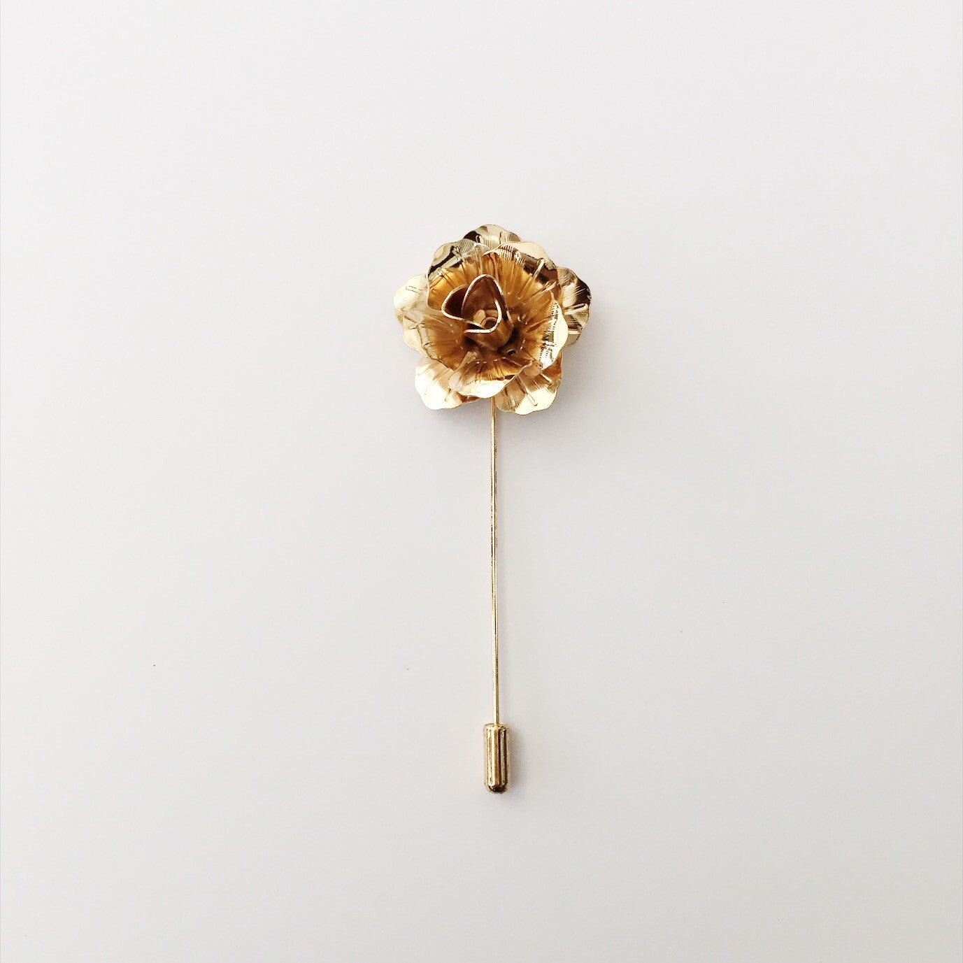 Lapel Pin Enamel - Gold Flower (1s)