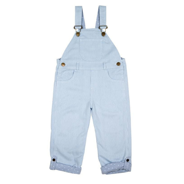 Pale Blue Stripe Dungarees