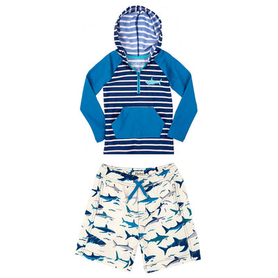 Boys Shark Swim Top & Shorts