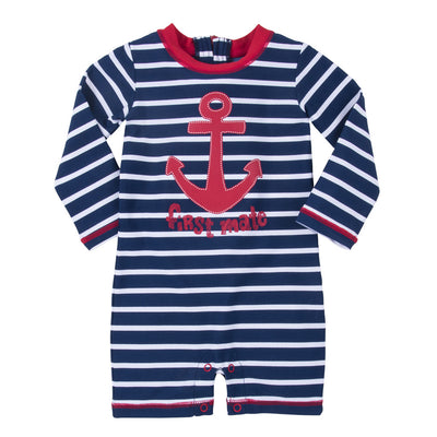 Baby's Vintage Nautical Swimsuit