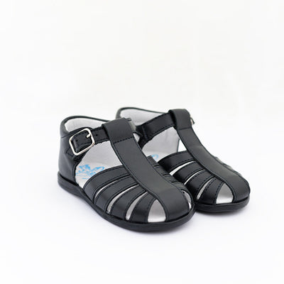 TNY Navy Blue Leather Sandals