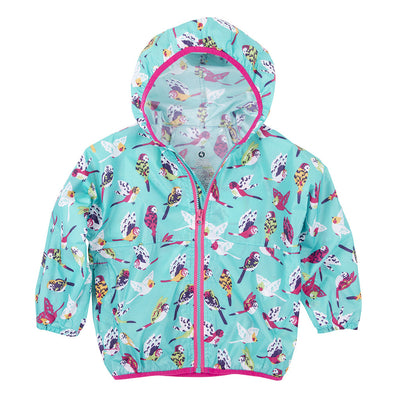 Girls Tropical Birds Windbreaker Jacket