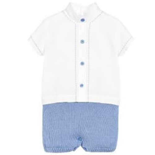 Baby Boys Cotton & Linen Romper