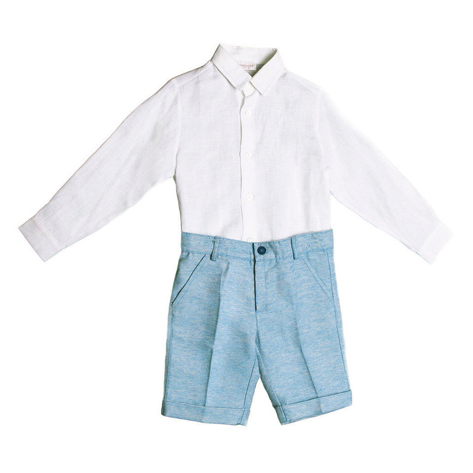Boys Linen Shirt & Shorts Set