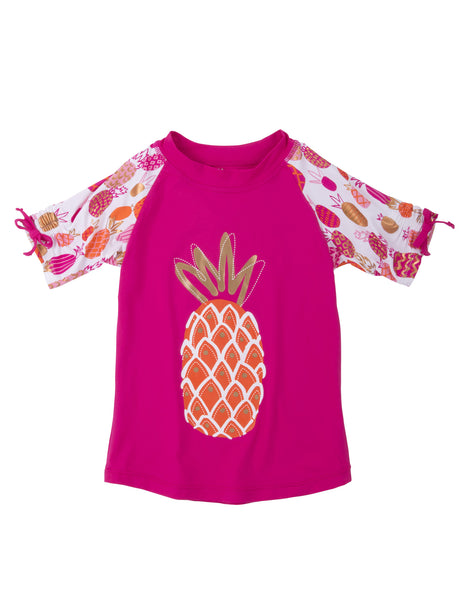 Girls Tropical Pineappleswim Top & Shorts
